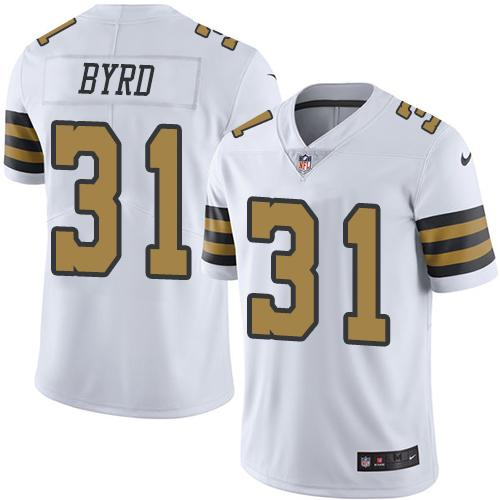 Nike Saints #31 Jairus Byrd White Men's Stitched NFL Limited Rush Jersey