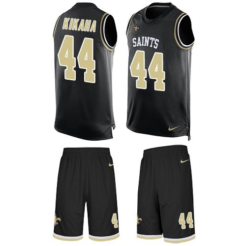 Nike Saints #44 Hau'oli Kikaha Black Team Color Men's Stitched NFL Limited Tank Top Suit Jersey
