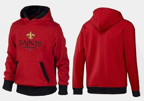 New Orleans Saints Critical Victory Pullover Hoodie Red & Black