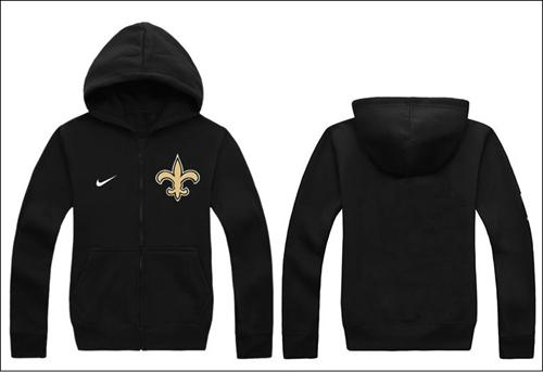 Nike New Orleans Saints Authentic Logo Hoodie Black