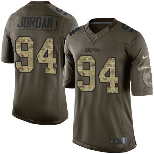 Nike Saints #94 Cameron Jordan Green Men's Stitched NFL Limited Salute to Service Jersey
