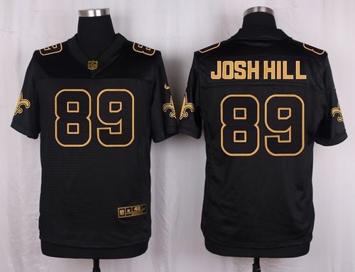 Nike Saints #89 Josh Hill Black Men's Stitched NFL Elite Pro Line Gold Collection Jersey