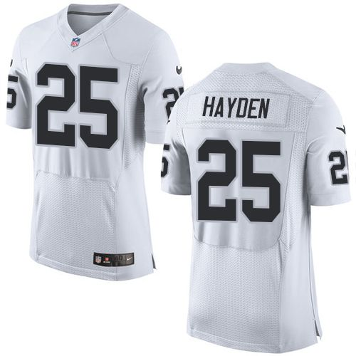 Nike Raiders #25 D.J. Hayden White Men's Stitched NFL New Elite Jersey