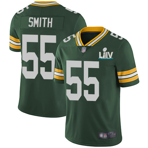 Men's Green Bay Packers #55 Za'Darius Smith Green Super Bowl LIV Vapor Untouchable Stitched NFL Limited Jersey