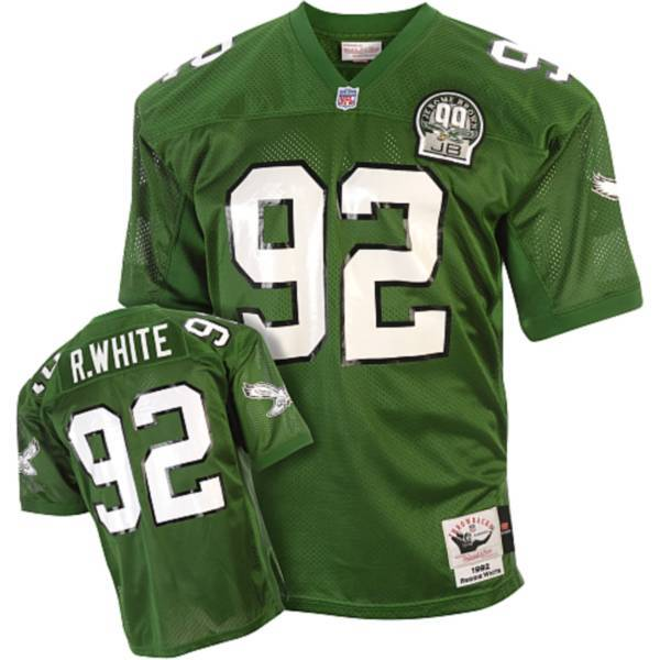 Mitchell&Ness Eagles #92 Reggie White Green Stitched Throwback NFL Jersey