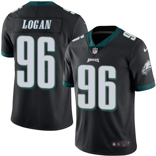 Nike Eagles #96 Bennie Logan Black Men's Stitched NFL Limited Rush Jersey