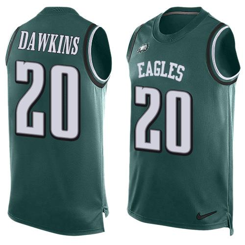 Nike Eagles #20 Brian Dawkins Midnight Green Team Color Men's Stitched NFL Limited Tank Top Jersey