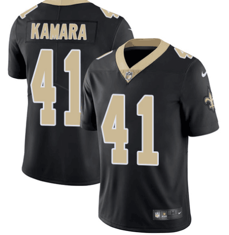 Men's Nike New Orleans Saints #41 Alvin Kamara Black Vapor Untouchable Limited Stitched NFL Jersey