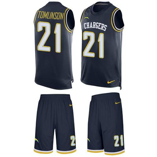Nike Chargers #21 LaDainian Tomlinson Navy Blue Team Color Men's Stitched NFL Limited Tank Top Suit Jersey