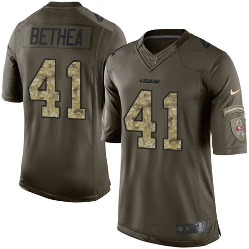 Nike 49ers #41 Antoine Bethea Green Men's Stitched NFL Limited Salute to Service Jersey