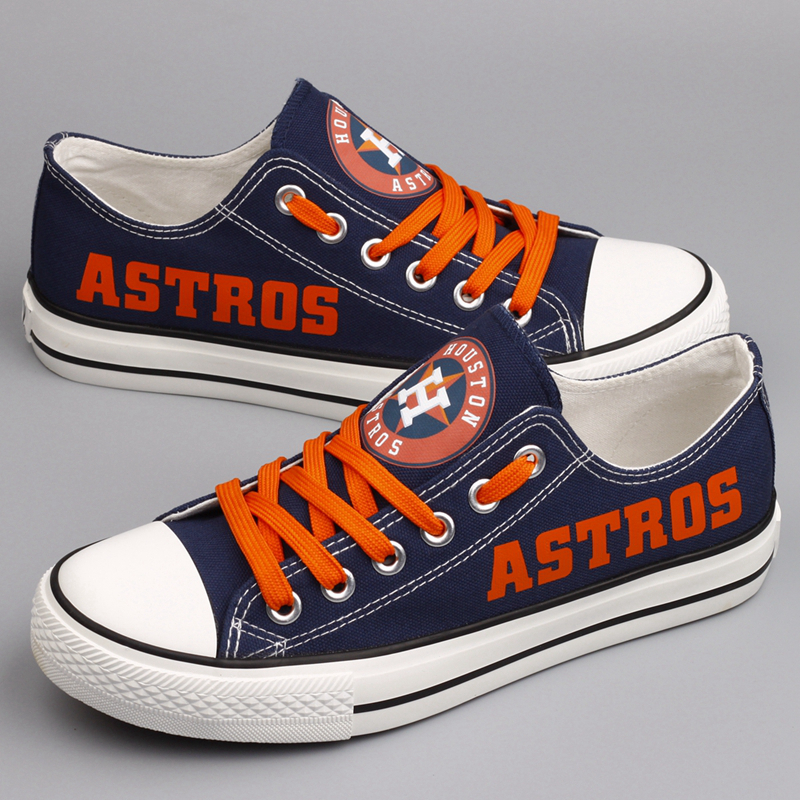 Women's Houston Astros Repeat Print Low Top Sneakers 004