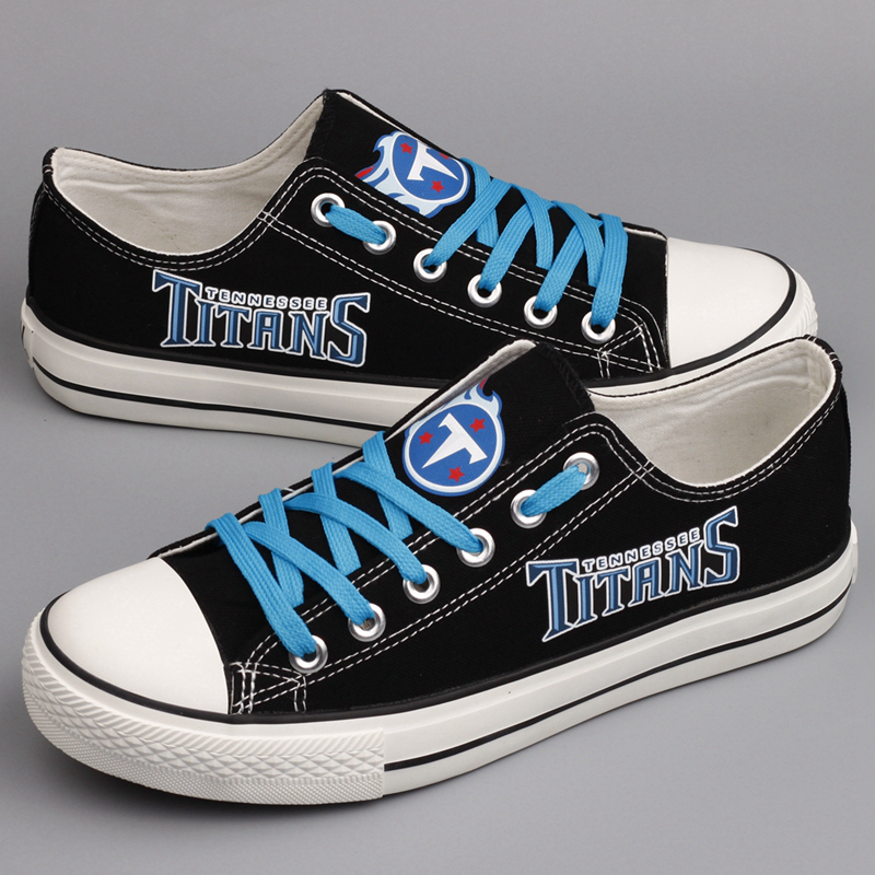 Women's NFL Tennessee Titans Repeat Print Low Top Sneakers 001