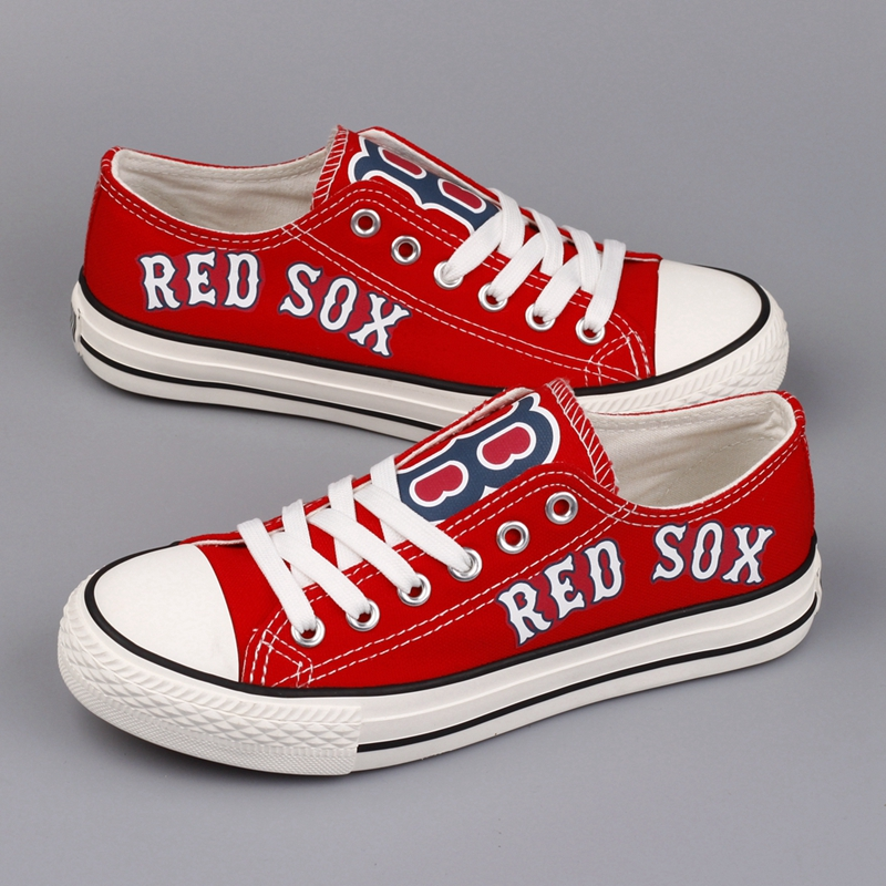 Women's Boston Red Sox Repeat Print Low Top Sneakers 001