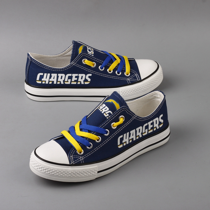 Women's NFL Los Angeles Chargers Repeat Print Low Top Sneakers 002
