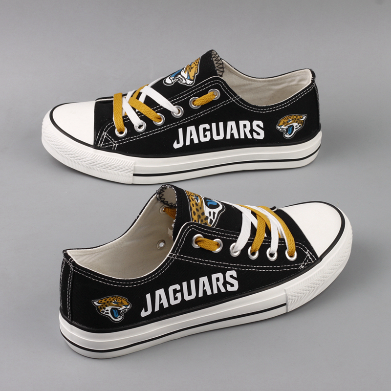 Women's NFL Jacksonville Jaguars Repeat Print Low Top Sneakers 002