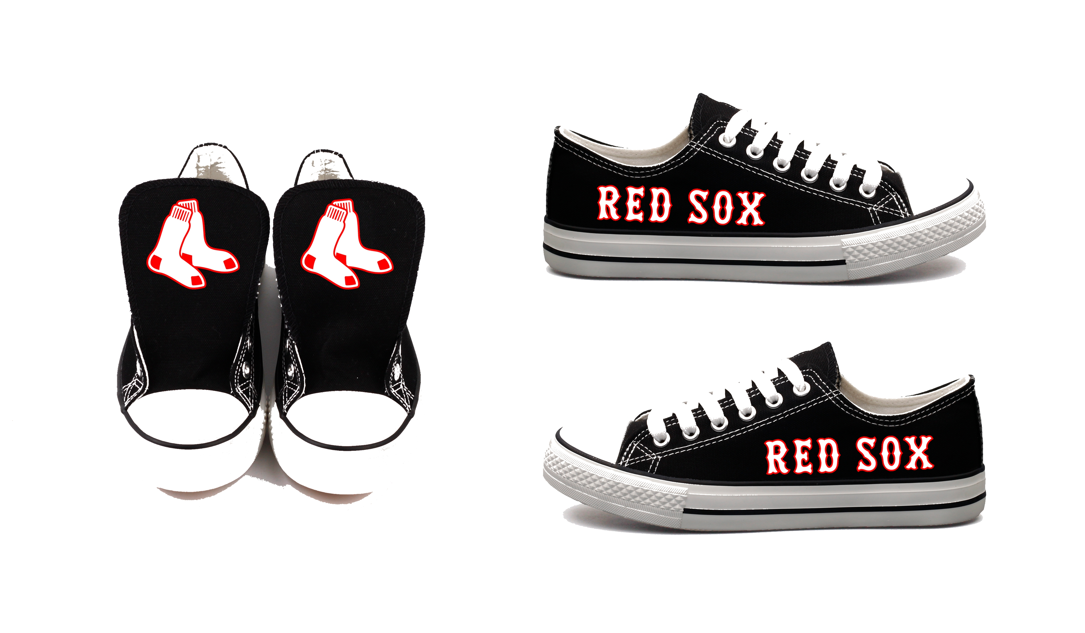 Women's Boston Red Sox Repeat Print Low Top Sneakers 004