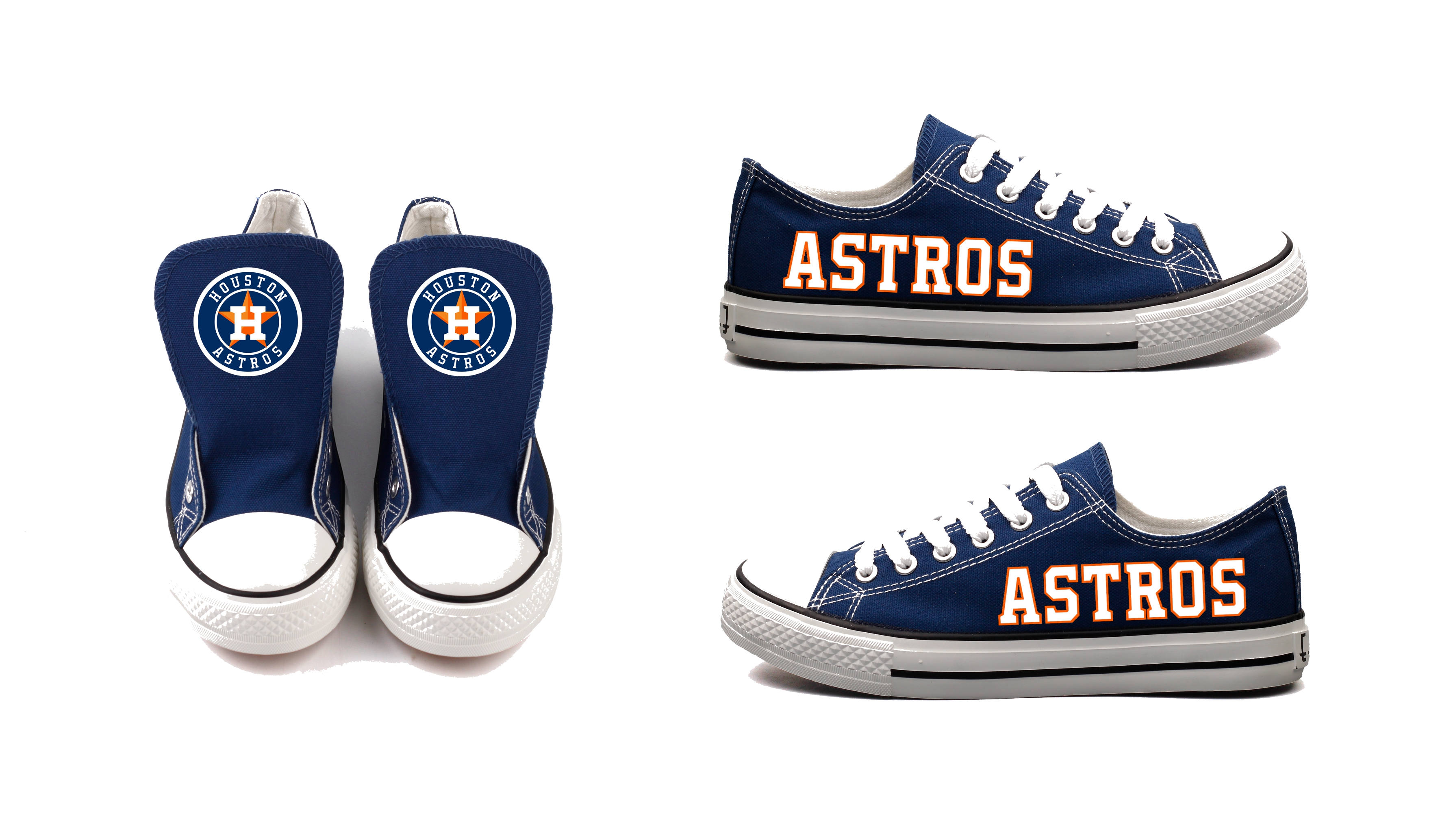 Women's Houston Astros Repeat Print Low Top Sneakers 005