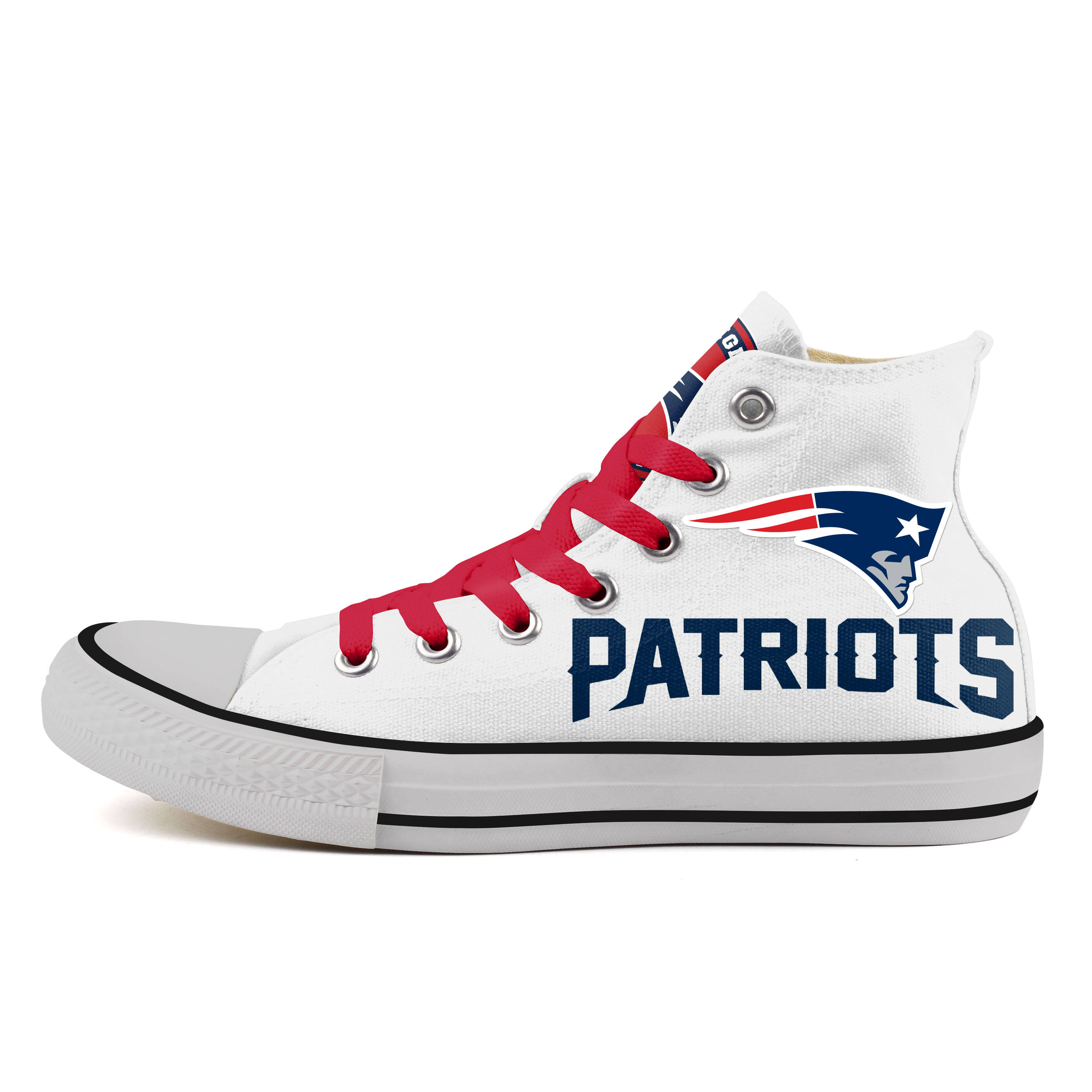 Women's NFL New England Patriots Repeat Print High Top Sneakers 006
