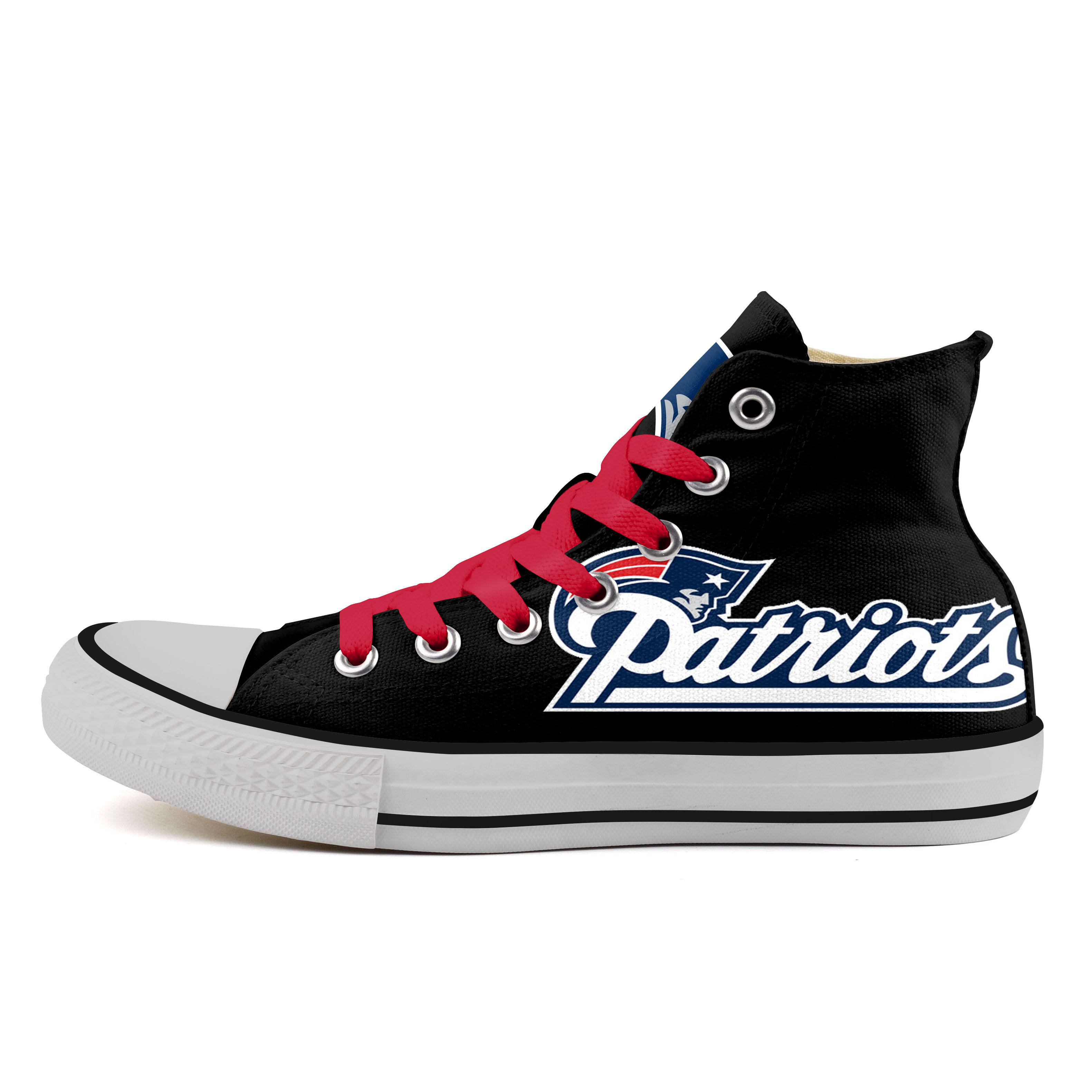 Women's NFL New England Patriots Repeat Print High Top Sneakers 005