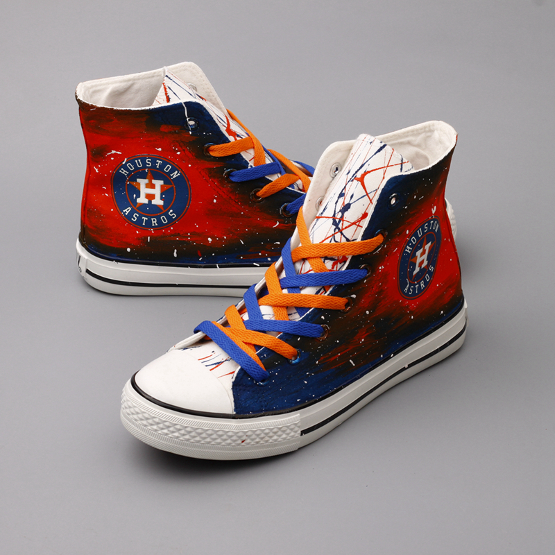 Women's Houston Astros Repeat Print HighTop Sneakers 009