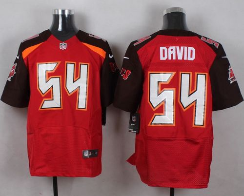 Nike Buccaneers #54 Lavonte David Red Team Color Men's Stitched NFL New Elite Jersey