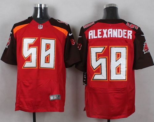 Nike Buccaneers #58 Kwon Alexander Red Team Color Men's Stitched NFL New Elite Jersey