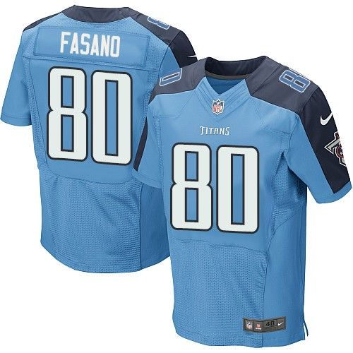 Nike Titans #80 Anthony Fasano Light Blue Team Color Men's Stitched NFL Elite Jersey