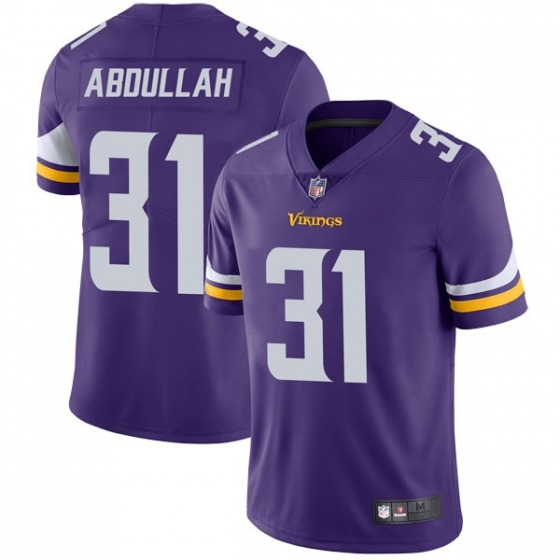 Men's Minnesota Vikings #31 Ameer Abdullah Purple Vapor Untouchable Limited Stitched Jersey