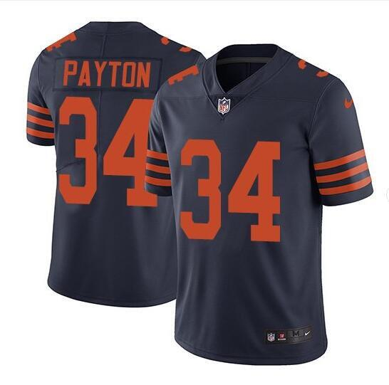 Men's Chicago Bears #34 Walter Payton Navy Vapor untouchable Limited Stitched NFL Jersey