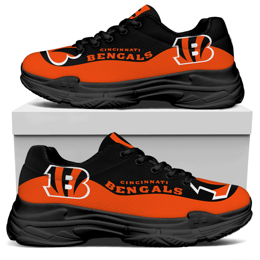 Women's Cincinnati Bengals Edition Chunky Sneakers With Line 001