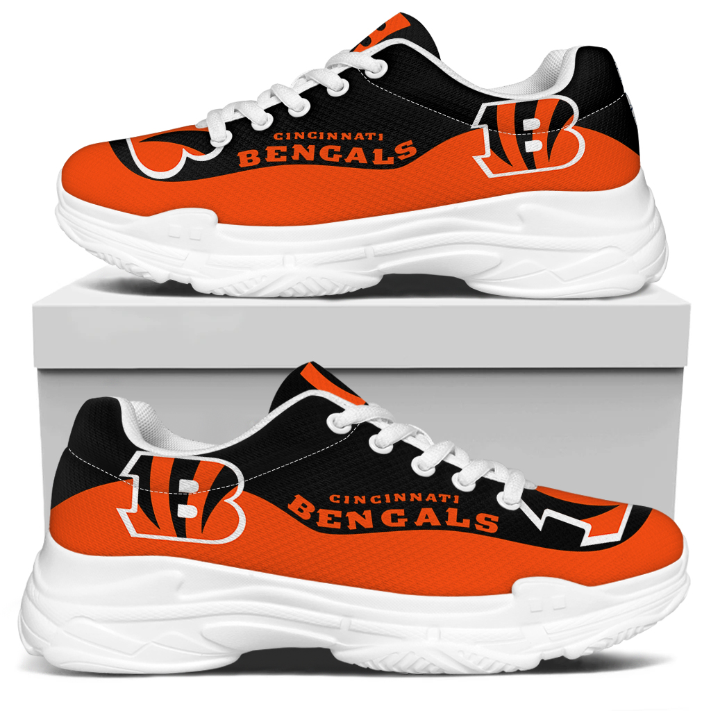 Women's Cincinnati Bengals Edition Chunky Sneakers With Line 002