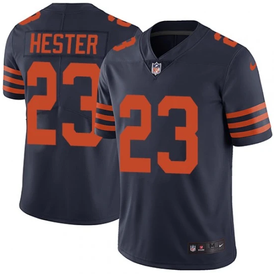Men's Chicago Bears #23 Devin Hester Navy Vapor untouchable Limited Stitched NFL Jersey