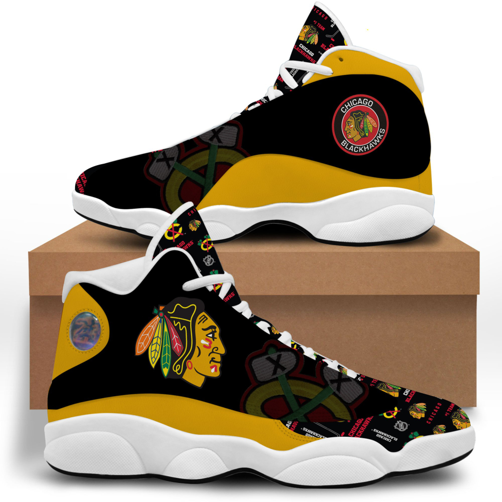 Women's Chicago Blackhawks Limited Edition JD13 Sneakers 001