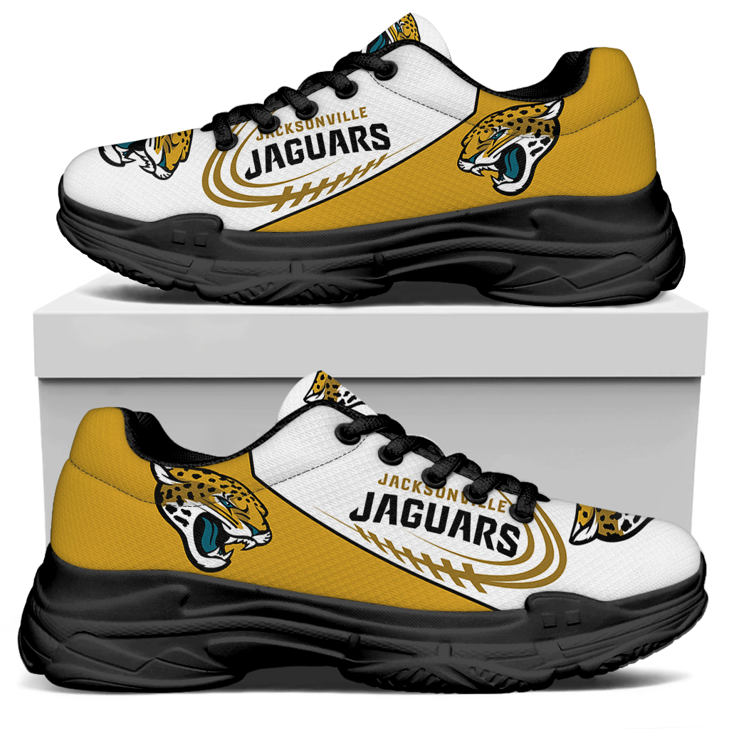 Women's Jacksonville Jaguars Edition Chunky Sneakers With Line 001