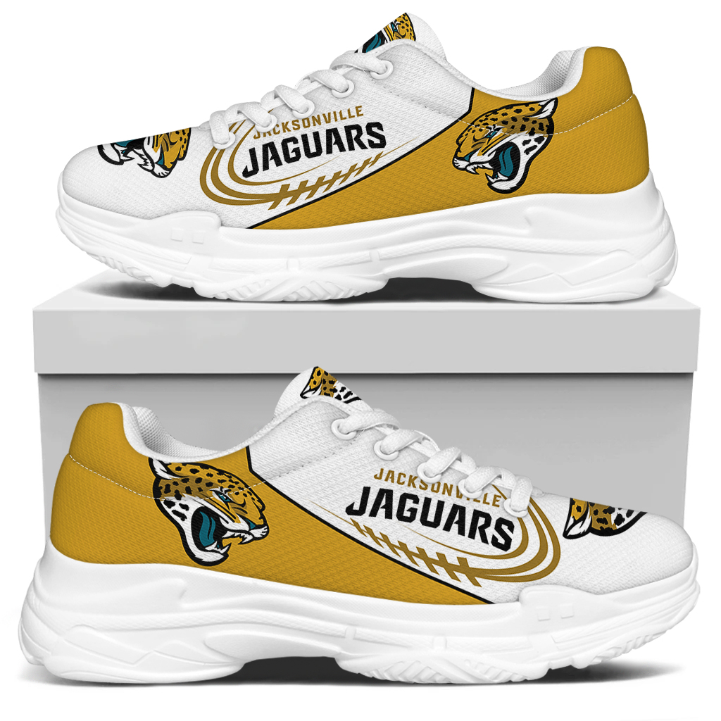 Women's Jacksonville Jaguars Edition Chunky Sneakers With Line 002