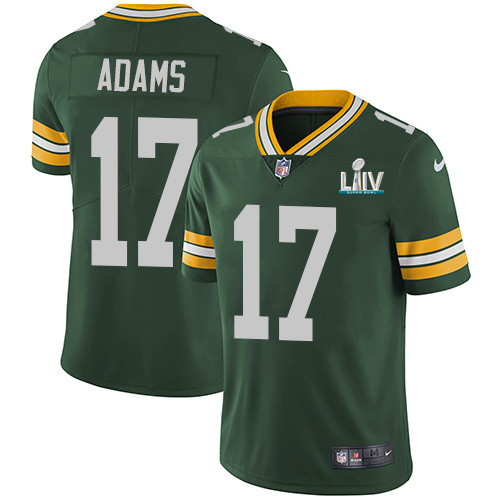 Men's Green Bay Packers #17 Davante Adams Green Super Bowl LIV Vapor Untouchable Stitched NFL Limited Jersey