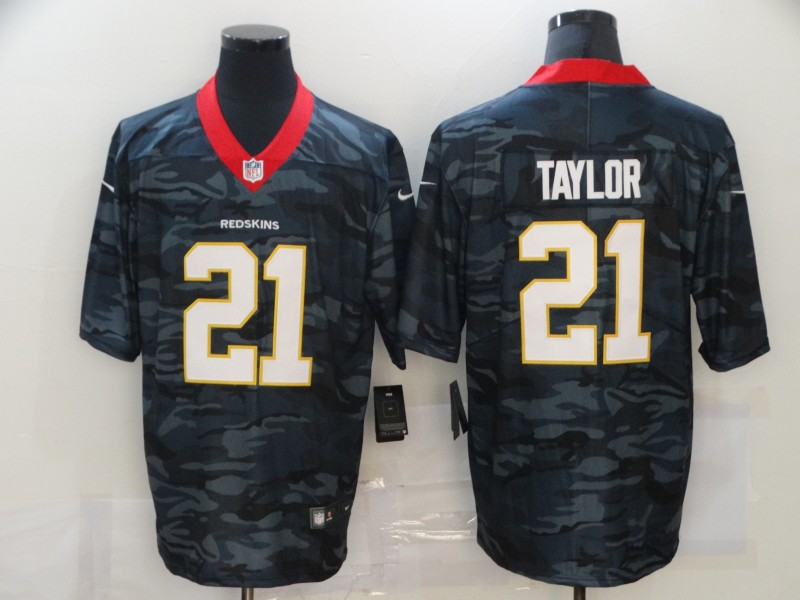 Men's Washington Football Team #21 Sean Taylor 2020 Camo Salute To Service Limited Stitched Jersey