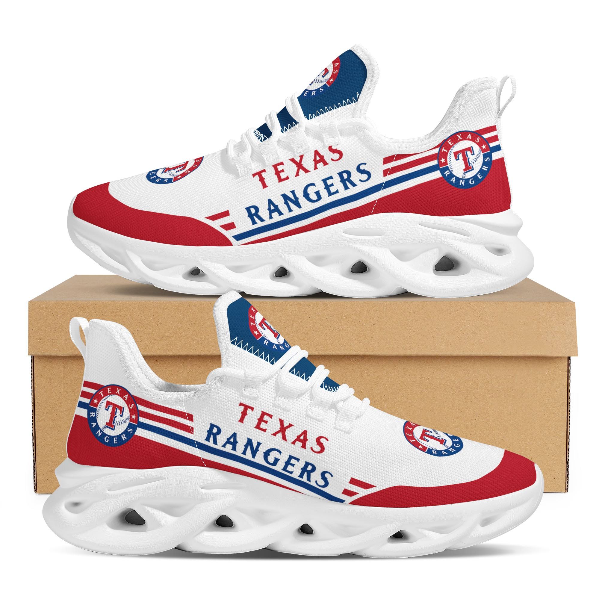 Men's Texas Rangers Flex Control Sneakers 002