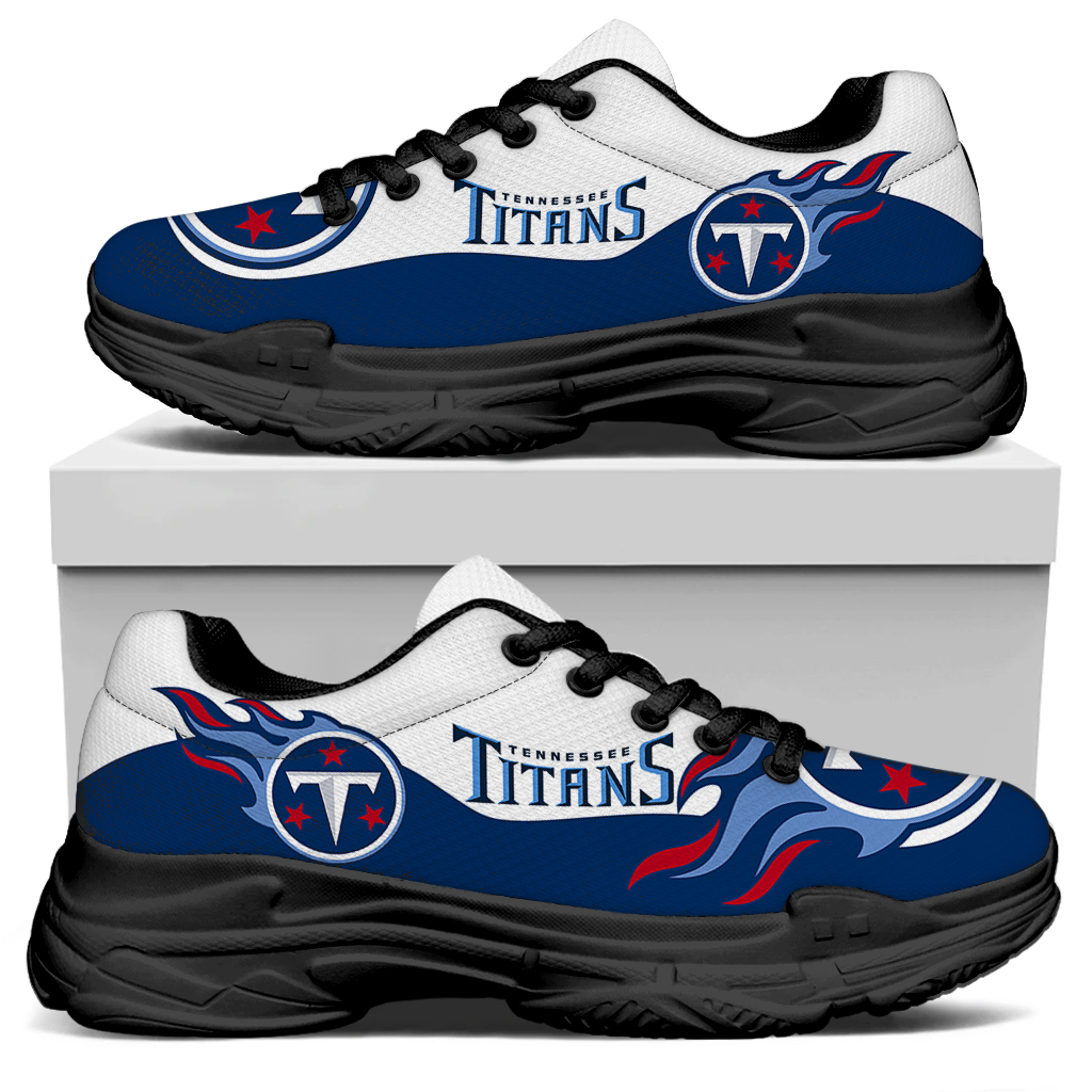 Men's Tennessee Titans Edition Chunky Sneakers With Line 001