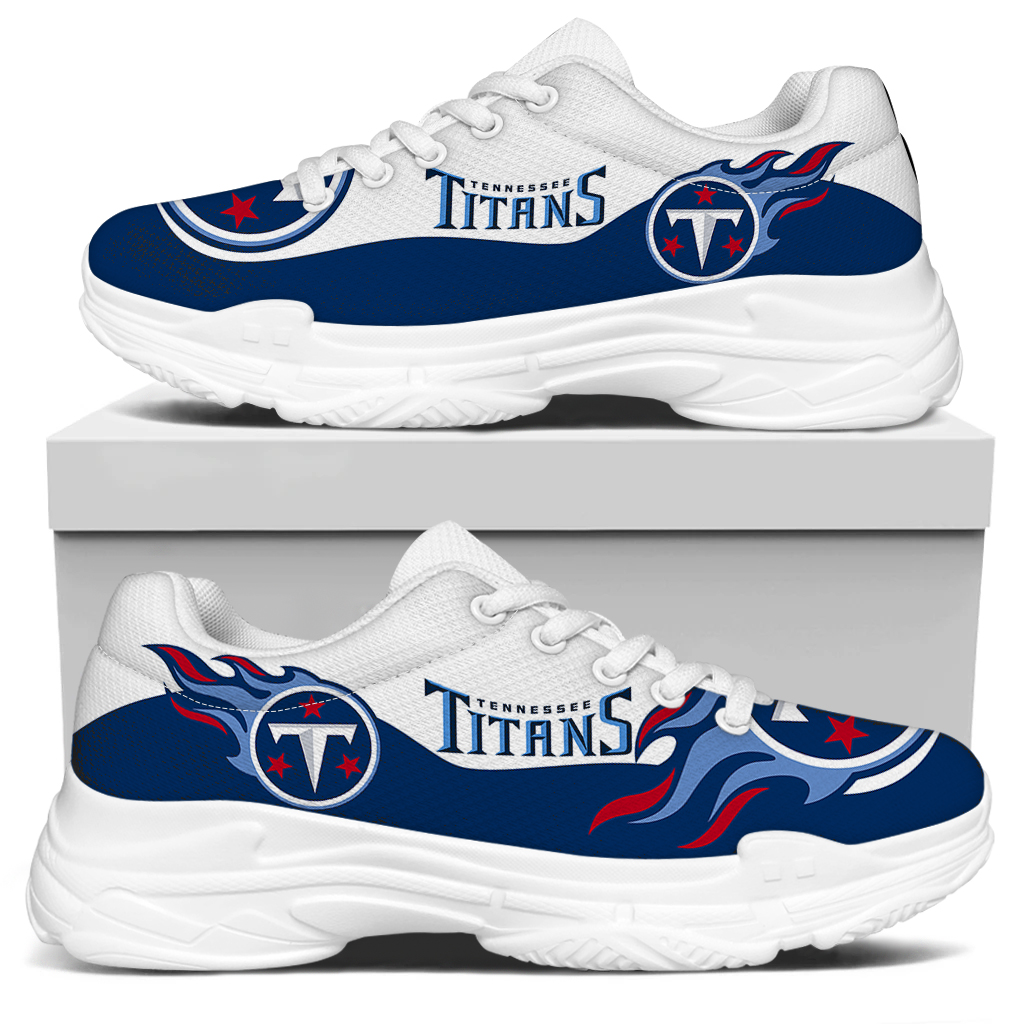 Men's Tennessee Titans Edition Chunky Sneakers With Line 002