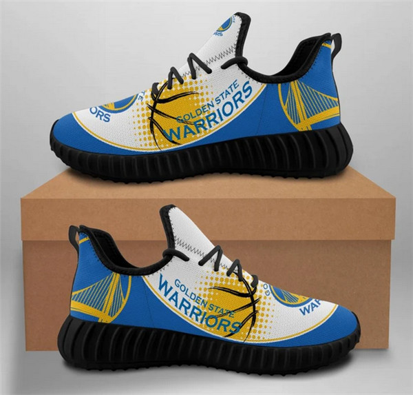 Men's Golden State Warriors Mesh Knit Sneakers/Shoes 006