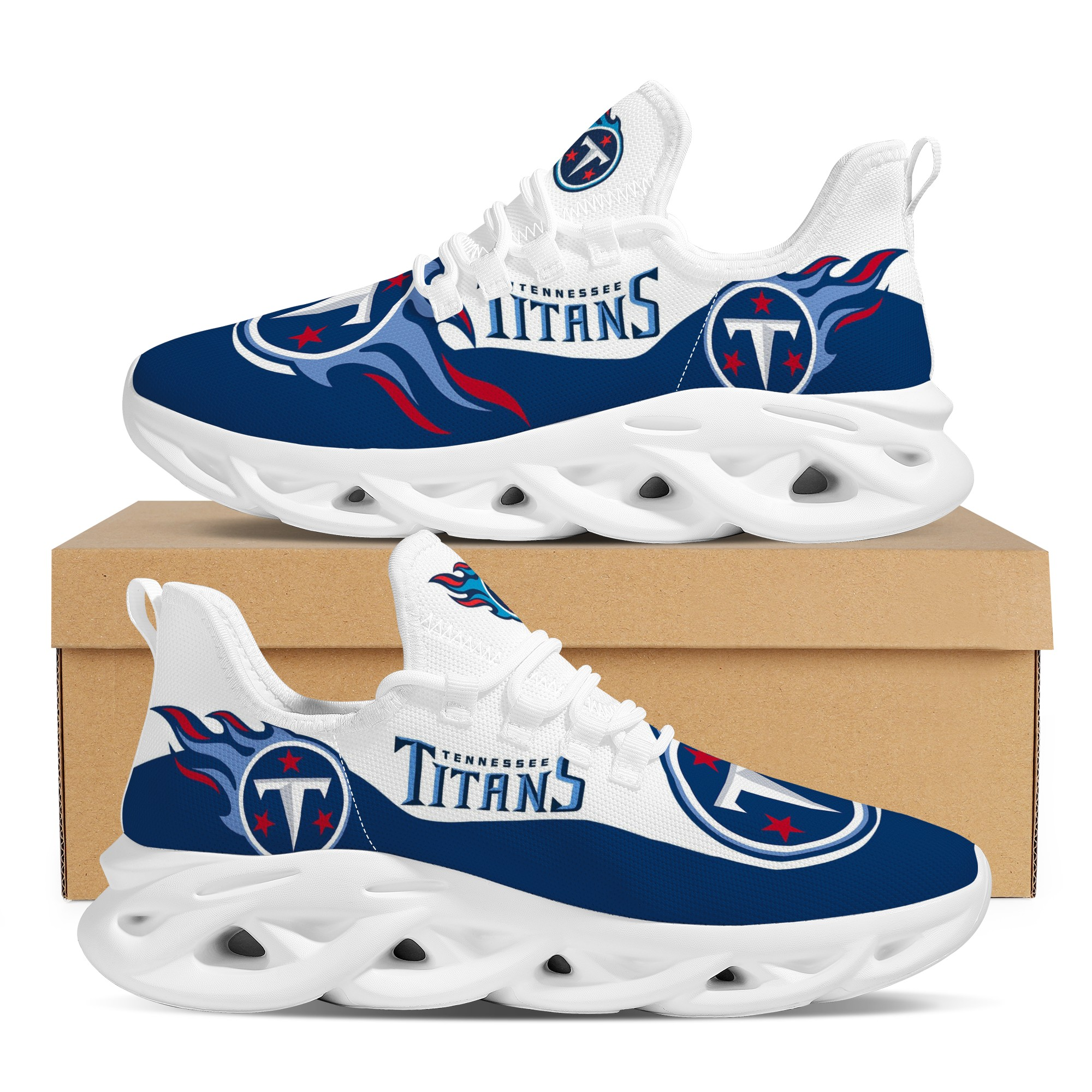 Men's Tennessee Titans Flex Control Sneakers 002