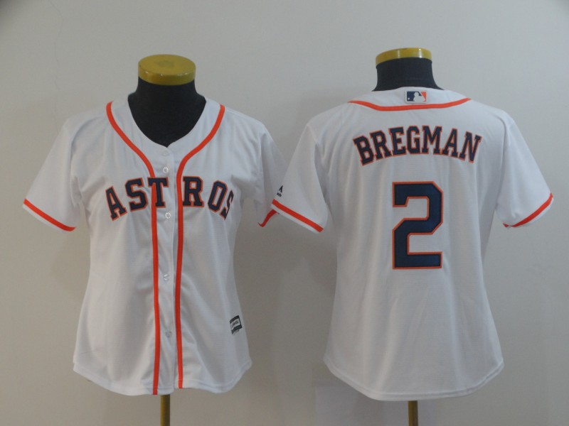 Women's Houston Astros #2 Alex Bregman White Cool Base Stitched MLB Jersey