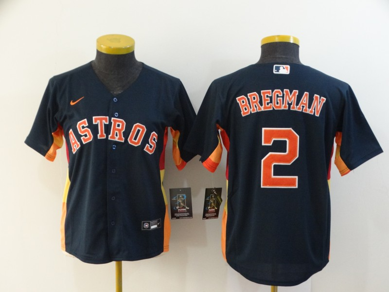 Women's Houston Astros #2 Alex Bregman 2020 Navy Cool Base Stitched MLB Jersey(Run Small)