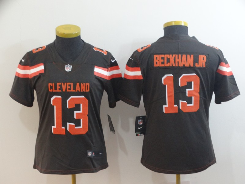 Women's Cleveland Browns #13 Odell Beckham Jr. Brown Vapor Untouchable Limited Stitched NFL Jersey(Run Small)