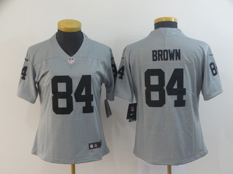 Women's Oakland Raiders #84 Antonio Brow 2019 Gary Inverted Legend Stitched NFL Jersey(Run Small)