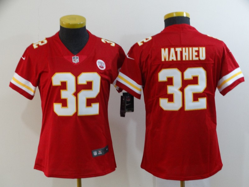 Women's Kansas City Chiefs #32 Tyrann Mathieu Red Vapor Untouchable Limited Stitched NFL Jersey(Run Small)