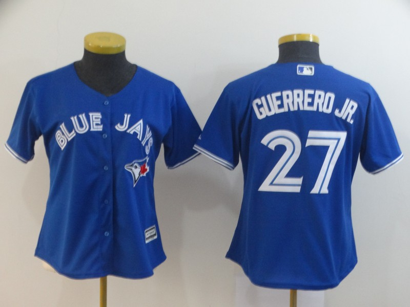 Women's New Toronto Blue Jays #27 Vladimir Guerrero Jr. Majestic Royal Cool Base Stitched MLB Jersey