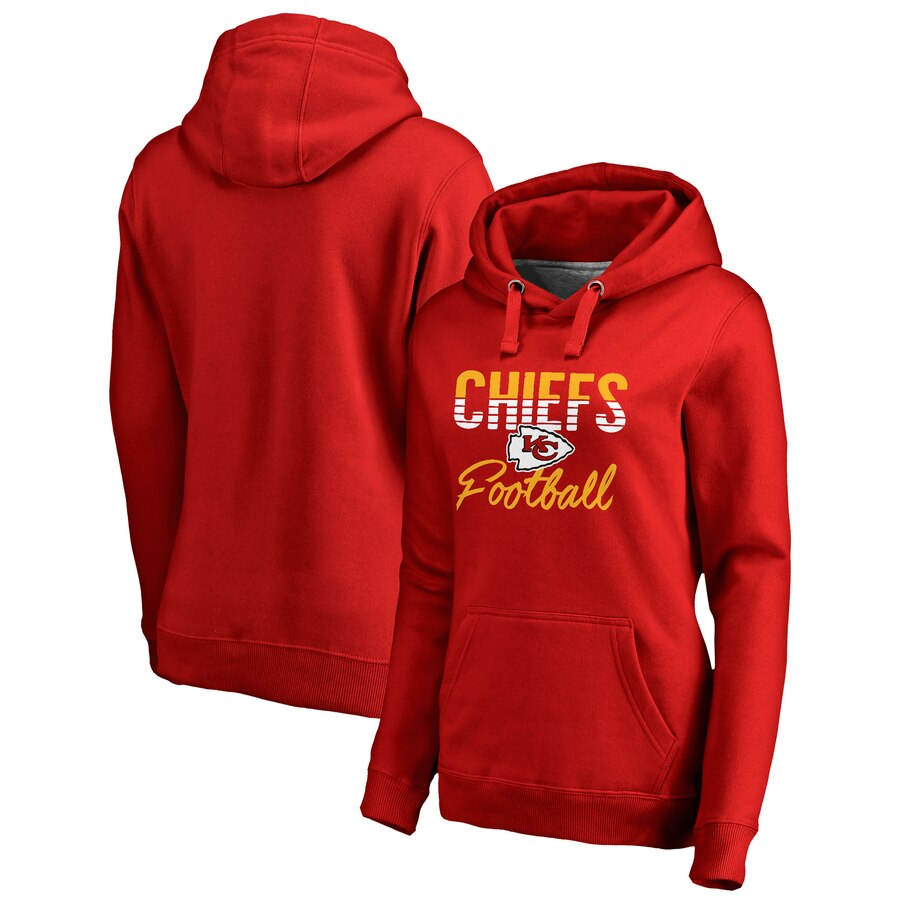 Women's Kansas City Chiefs Red Free Line Pullover Hoodie(Run Small)