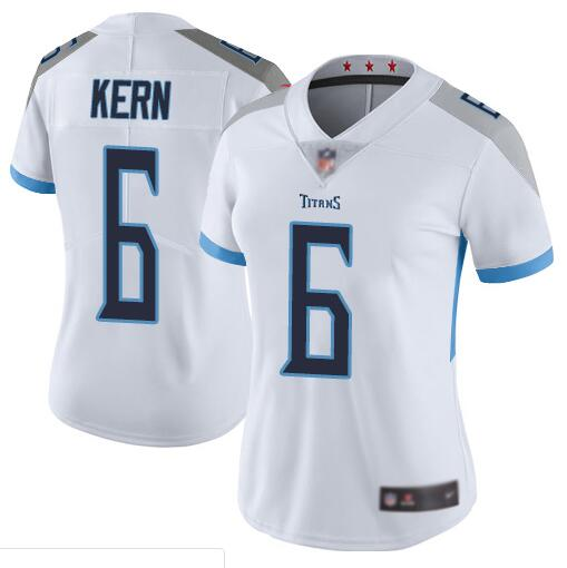 Women's Tennessee Titans #6 Brett Kern White Vapor Untouchable Limited Stitched NFL Jersey(Run Small)